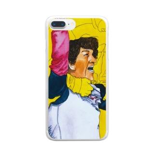 サッカー喜色イラスト 歓喜の水彩画 Clear smartphone cases
