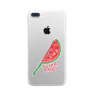 すいか飴☆ Clear smartphone cases