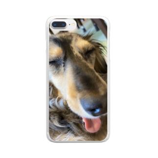 Usamimi99のA Dog Clear smartphone cases
