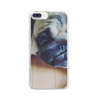 ぱぐるみ Clear smartphone cases