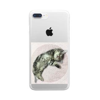 猫のロズ君_ねこネコcatのRoz-kun猫 ねこネコcat Clear smartphone cases