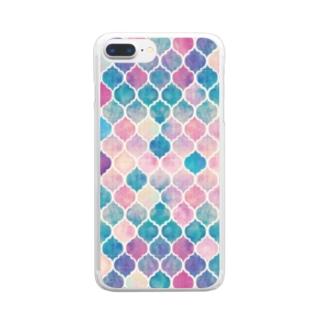 幾何学模様1 Clear smartphone cases