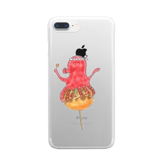 たこ焼きいかが? Clear smartphone cases