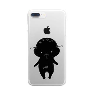 荒ぶるぴこぴこちゃん Clear smartphone cases