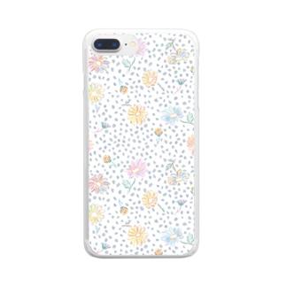 マトリカリア・手帳型スマホケース Clear smartphone cases
