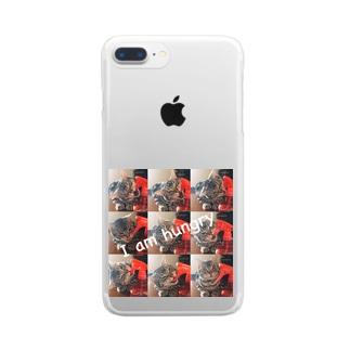 猫のロズ君 Clear smartphone cases