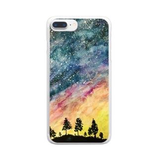 星空 Clear smartphone cases