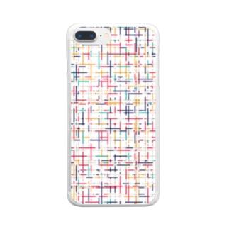 幾何学模様2 Clear smartphone cases
