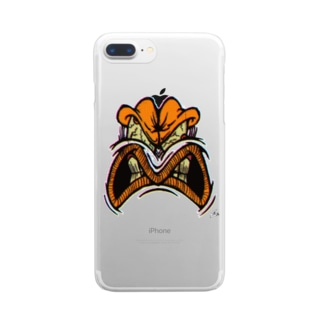 YELLOW JUNKIE 「怒ったご尊顔」 Clear smartphone cases