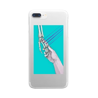 「hold hands」 Clear smartphone cases
