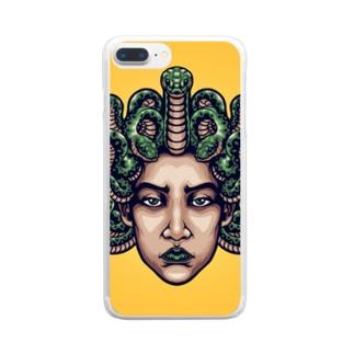 メドゥーサ🐍 Clear smartphone cases