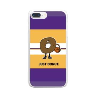 ジャストドーナツ Clear smartphone cases