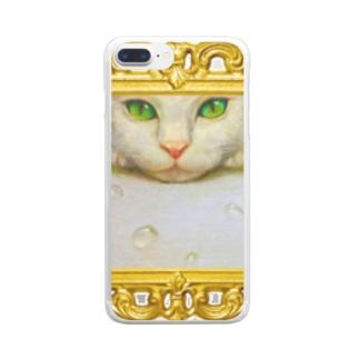 ARS GALS アルス・ギャルズのマスカット白猫 Clear smartphone cases