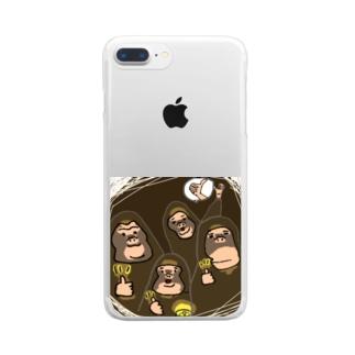 それいいね!モンキーズ Clear smartphone cases
