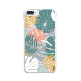トロピカル2 Clear smartphone cases