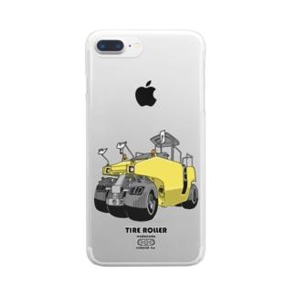 タイヤローラー Clear smartphone cases
