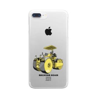 マカダムローラー Clear smartphone cases