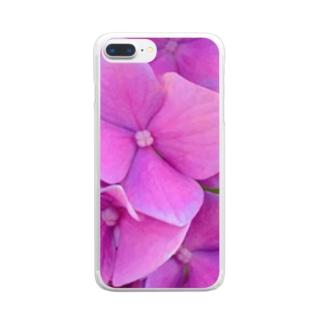 紫陽花。 Clear smartphone cases
