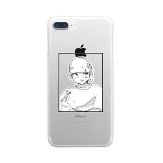 こじまたろうの女の子 Clear smartphone cases
