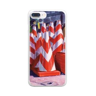 夜桜カラーコーン Clear smartphone cases