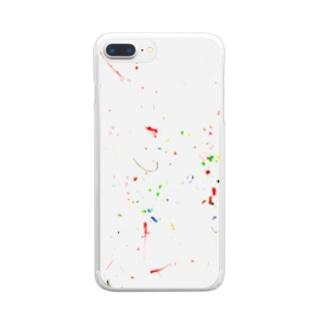 Mzkのはじめての絵 Clear smartphone cases