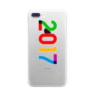 marikiroの2017_西暦 Clear smartphone cases