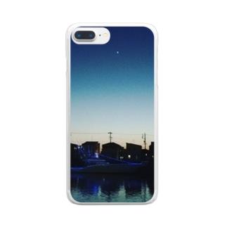 宵の明星 Clear smartphone cases