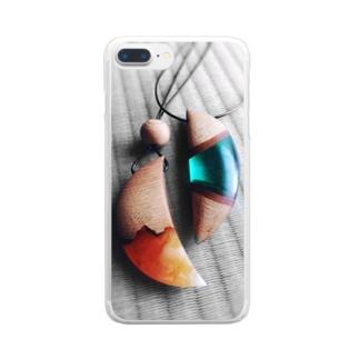 ウッドレジンのアクセサリー Clear smartphone cases