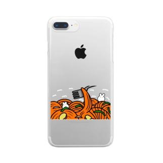 0izumizumide0のナポリタンとうさぎ Clear smartphone cases