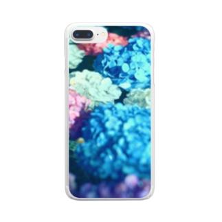 水と紫陽花 Clear smartphone cases