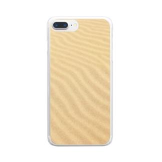 鳥取砂丘の砂紋 Clear smartphone cases