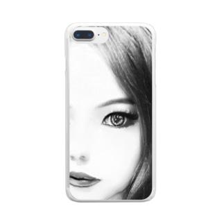 妄想彼女 Clear smartphone cases