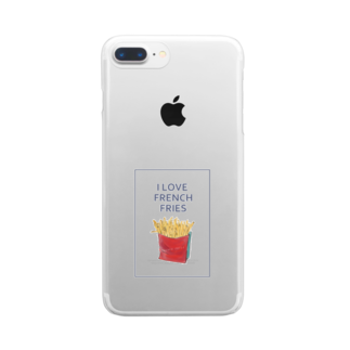 NATSUYA TAKASAKIのI LOVE FRENCH FRIES Clear smartphone cases