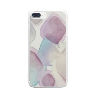 にじみダイヤ Clear smartphone cases