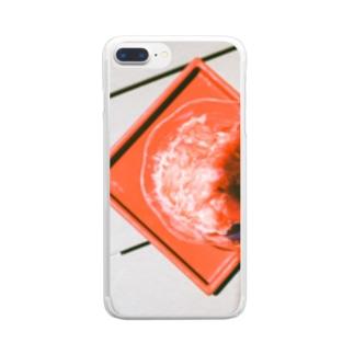 いちご味 Clear smartphone cases