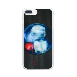 午後のソーダ Clear smartphone cases