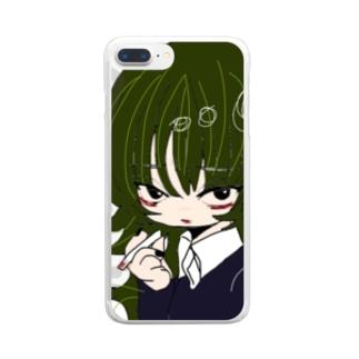 ゆめかわいい女の子 Clear smartphone cases
