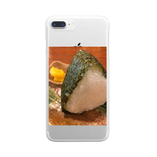 園村のおみせのぼくはおむすびが食べたいんだなぁ Clear smartphone cases