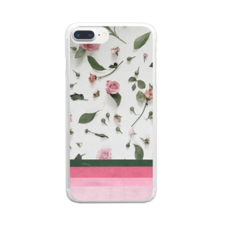 pink rose Clear smartphone cases