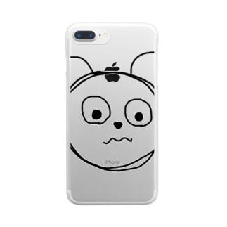ベアベアくん Clear smartphone cases