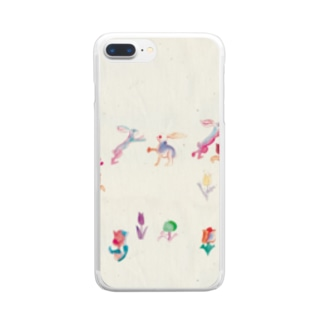 KAERUCAFE SHOPのうさぎ Clear smartphone cases