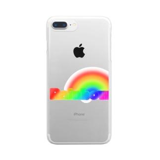 レインボー Clear smartphone cases
