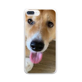 むぎちゃん Clear smartphone cases