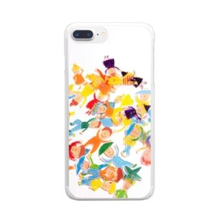 プラ板バラバラ Clear smartphone cases