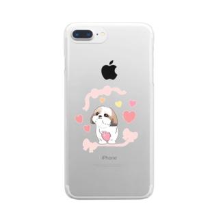 シーズーちゃん Clear smartphone cases