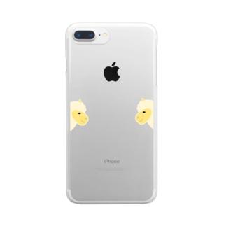 アルパカvsアルパカ Clear smartphone cases
