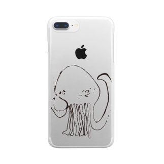 hito_mi_changのタコさん Clear smartphone cases