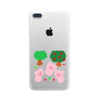 こぶたちゃんに見つかった Clear smartphone cases