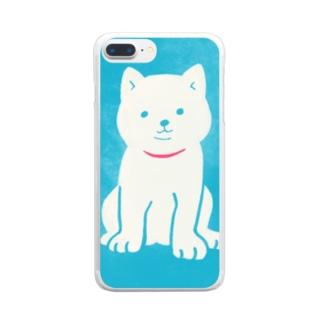せきぐち みほ📚クリエポ10/21-23の子犬1 Clear smartphone cases