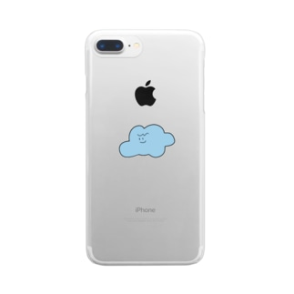 suuuuuga_rのいたずらクラウドくん Clear smartphone cases